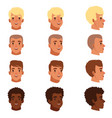 men head avatars set with vector image