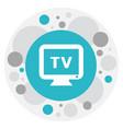 of plaza symbol on tv icon vector image