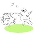 Wedding waltz vector image