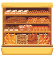 Bread showcase vector image vector image