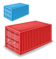 Freight container set vector image