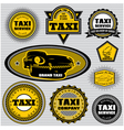 set of labels to topic taxi and trucking vector image