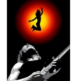 a man and his guitar vector image vector image