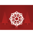 pop up christmas snowflake vector image vector image