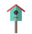 Nesting box or birdhouse vector image