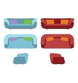 Big Sofas Set Furniture for Your Interior Design vector image