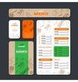 Cafe or restaurant identity template vector image
