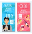 Cocktail Invitations Design Set vector image
