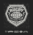College east coast rugby team emblem and icons vector image