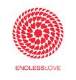 heart logo poster vector image