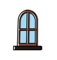 house big window vector image
