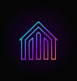 house colorful icon vector image