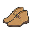 light brown high shoes vector image