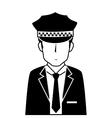 man hat suit tie chauffer vector image
