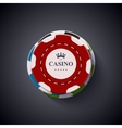modern casino chips on dark background vector image