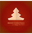 Red Christmas tree card vector image