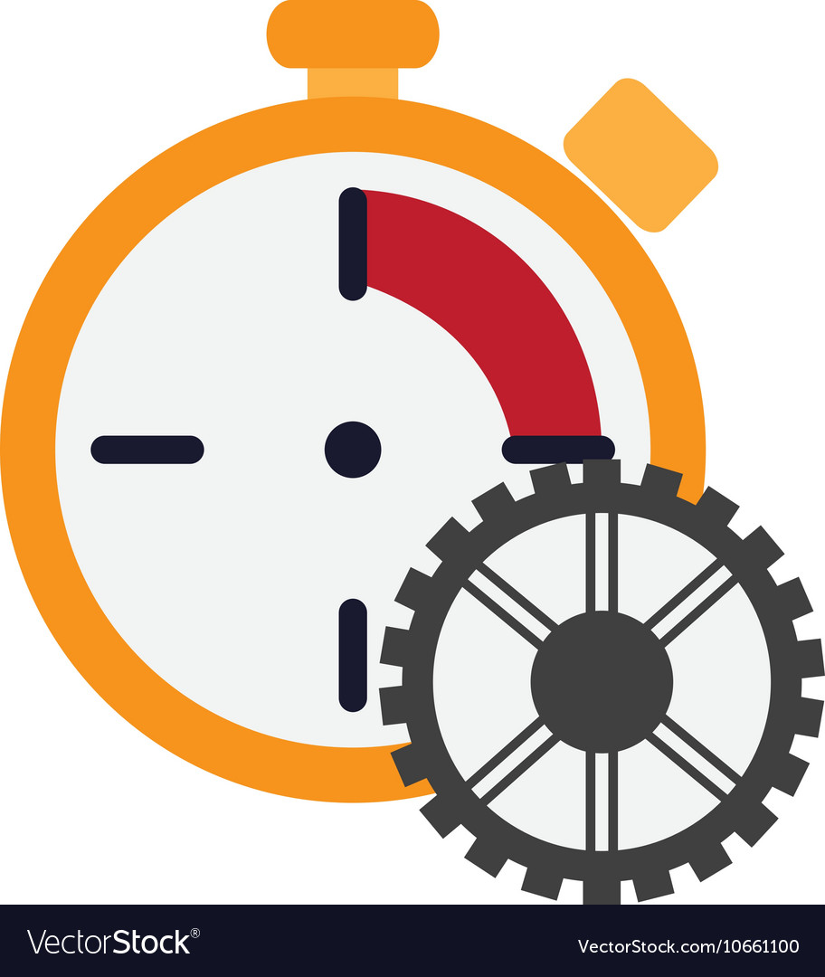 Chronometer and gear icon vector