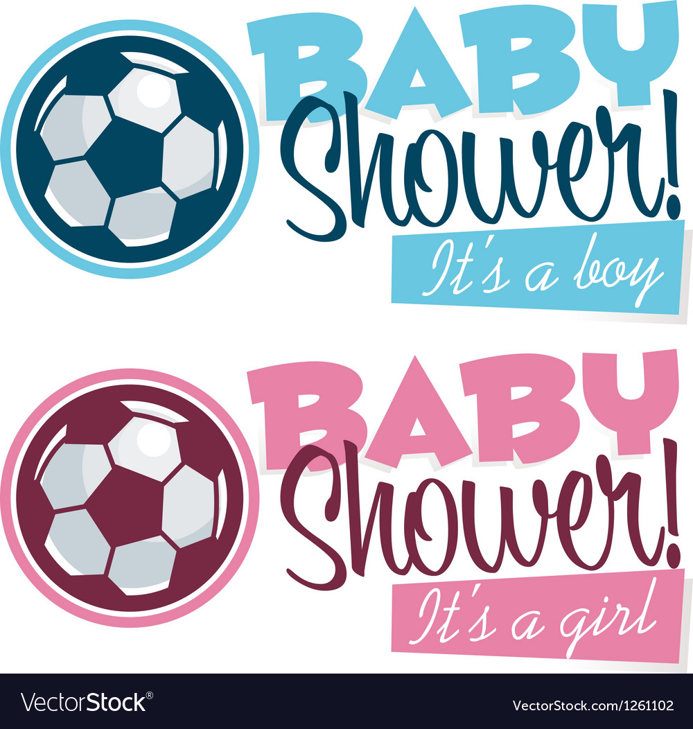 Soccer baby shower banners vector