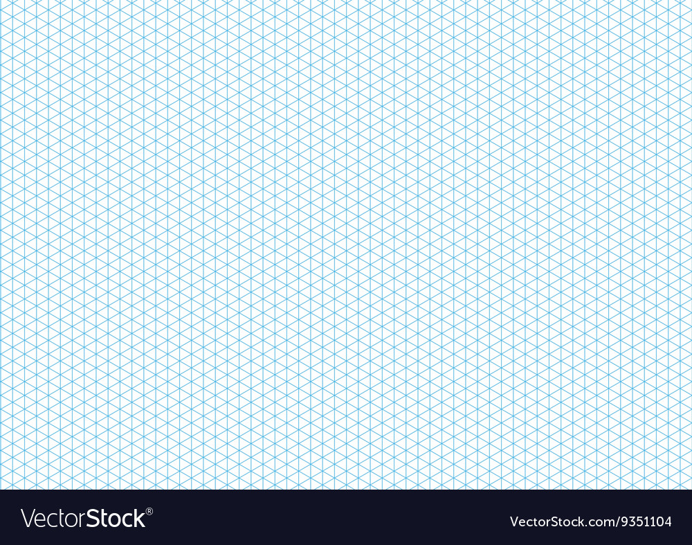 Cyan isometric grid with vertical guideline on a4 vector