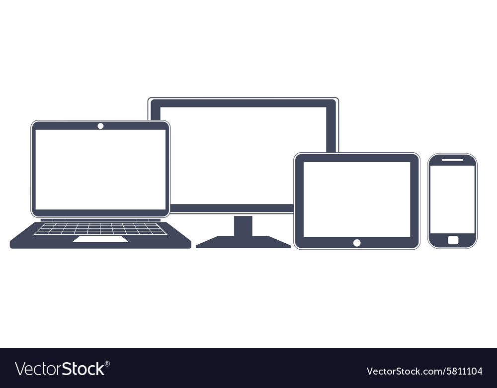 Device icons smart phone tablet laptop and vector