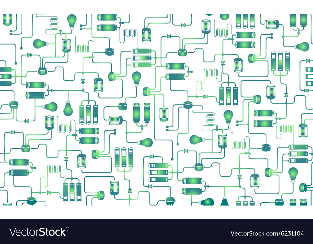 Seamless background of electrical scheme vector