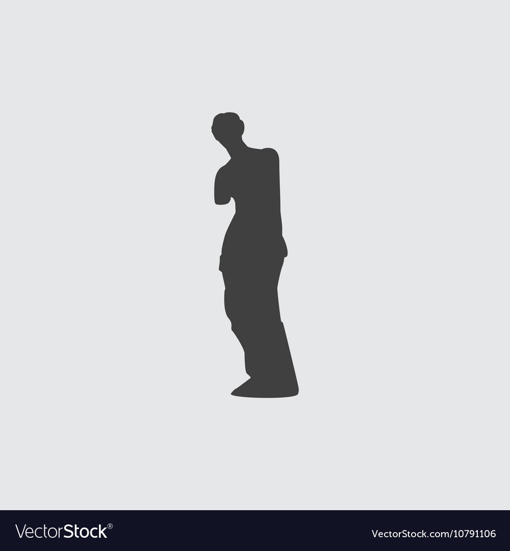 Venus de milo icon vector