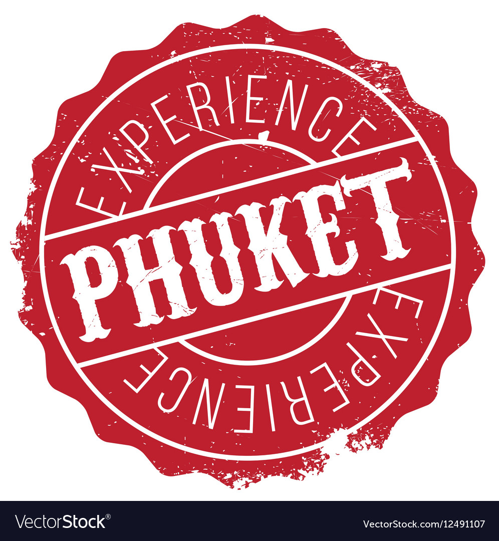 Phuket stamp rubber grunge vector