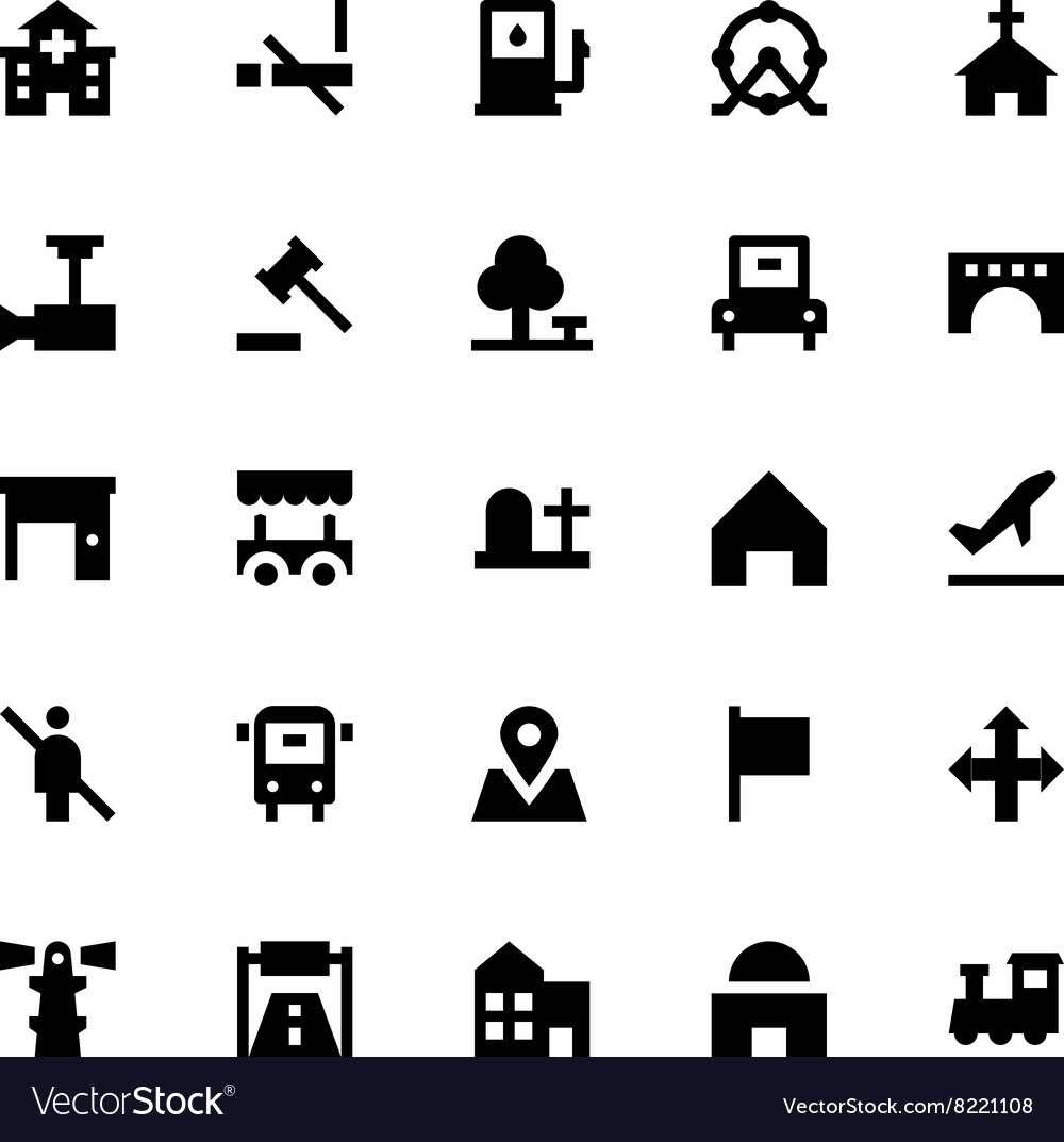 City elements icons 4 vector