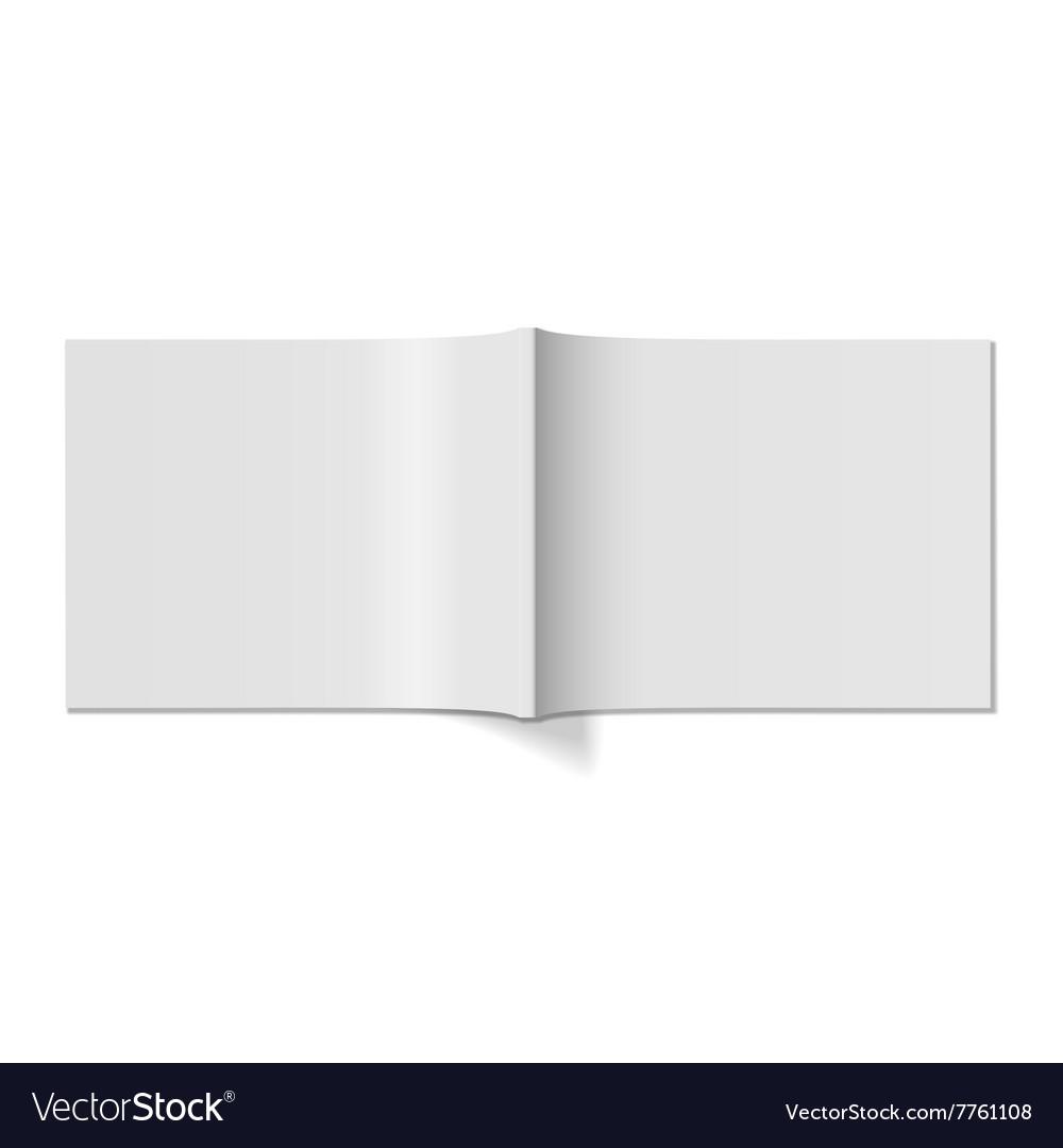 Magazine cover realistic blank template vector