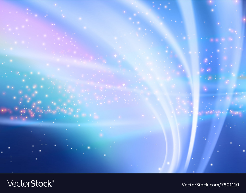 Abstract aurora and starry background vector