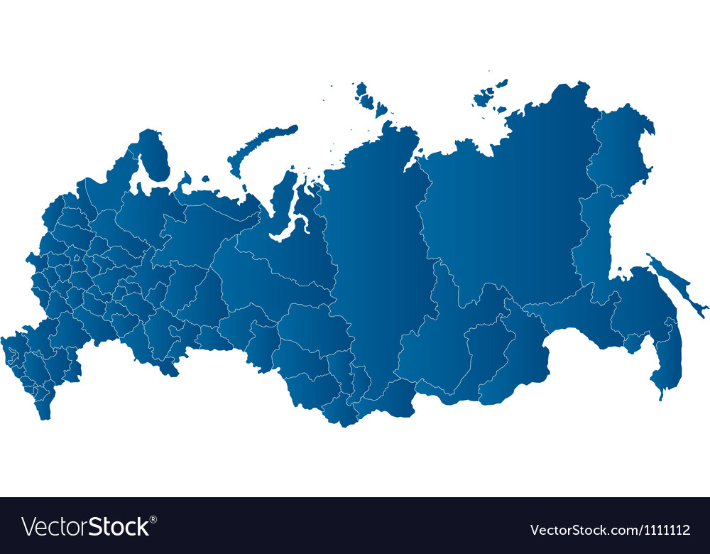 Map of the russian federation vector