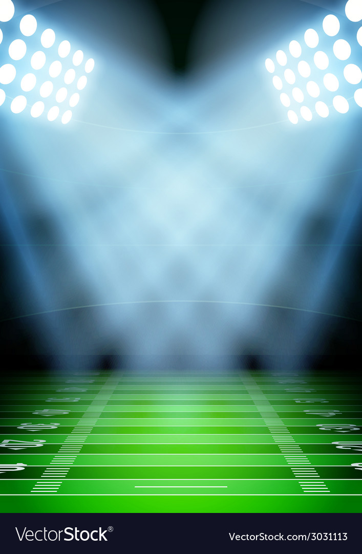 Background for posters night football stadium in vector