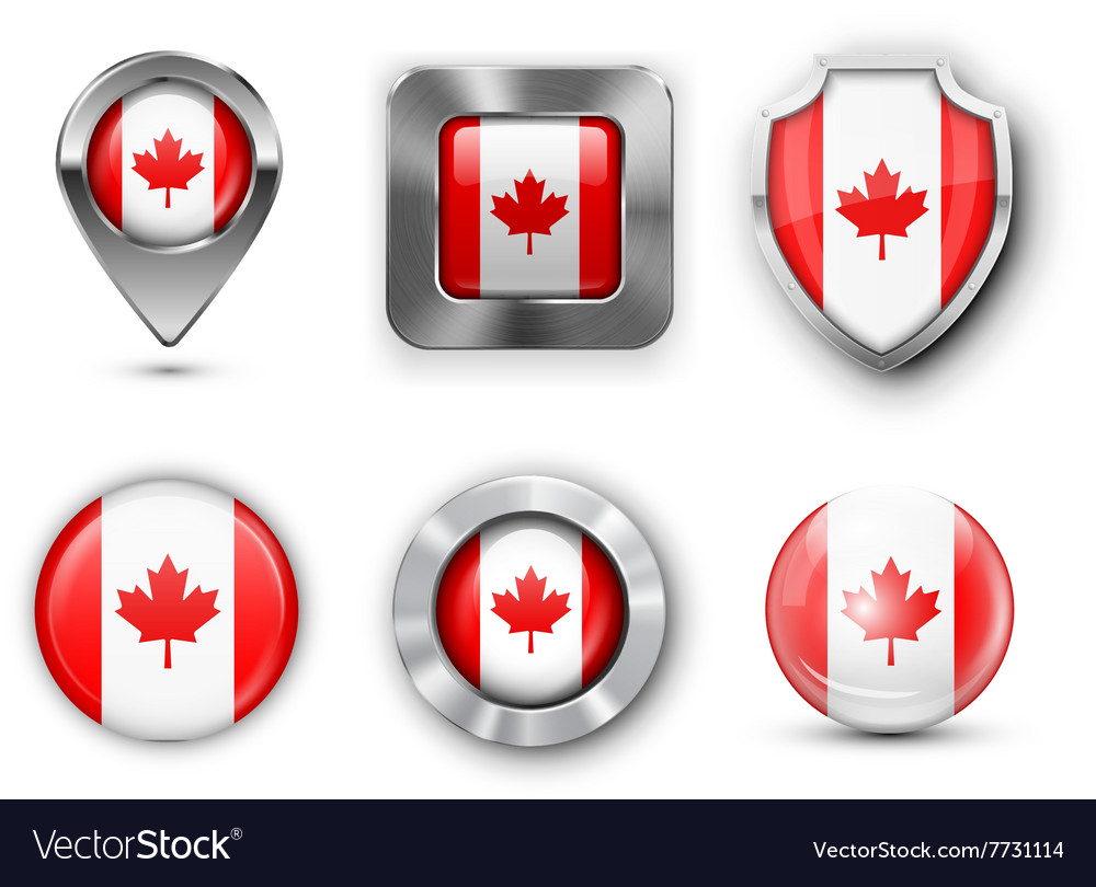 Country flag bages vector