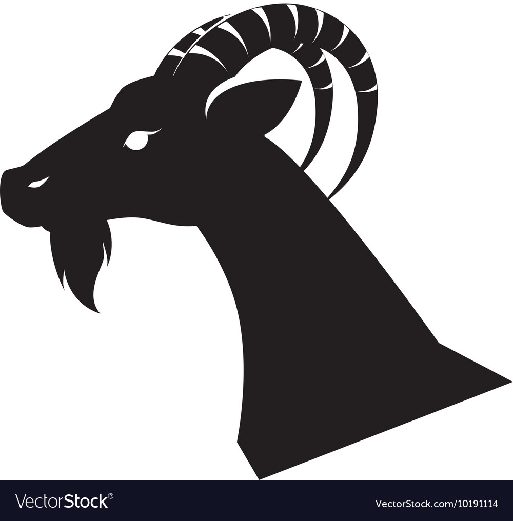 Goat animal capricorn icon graphic vector