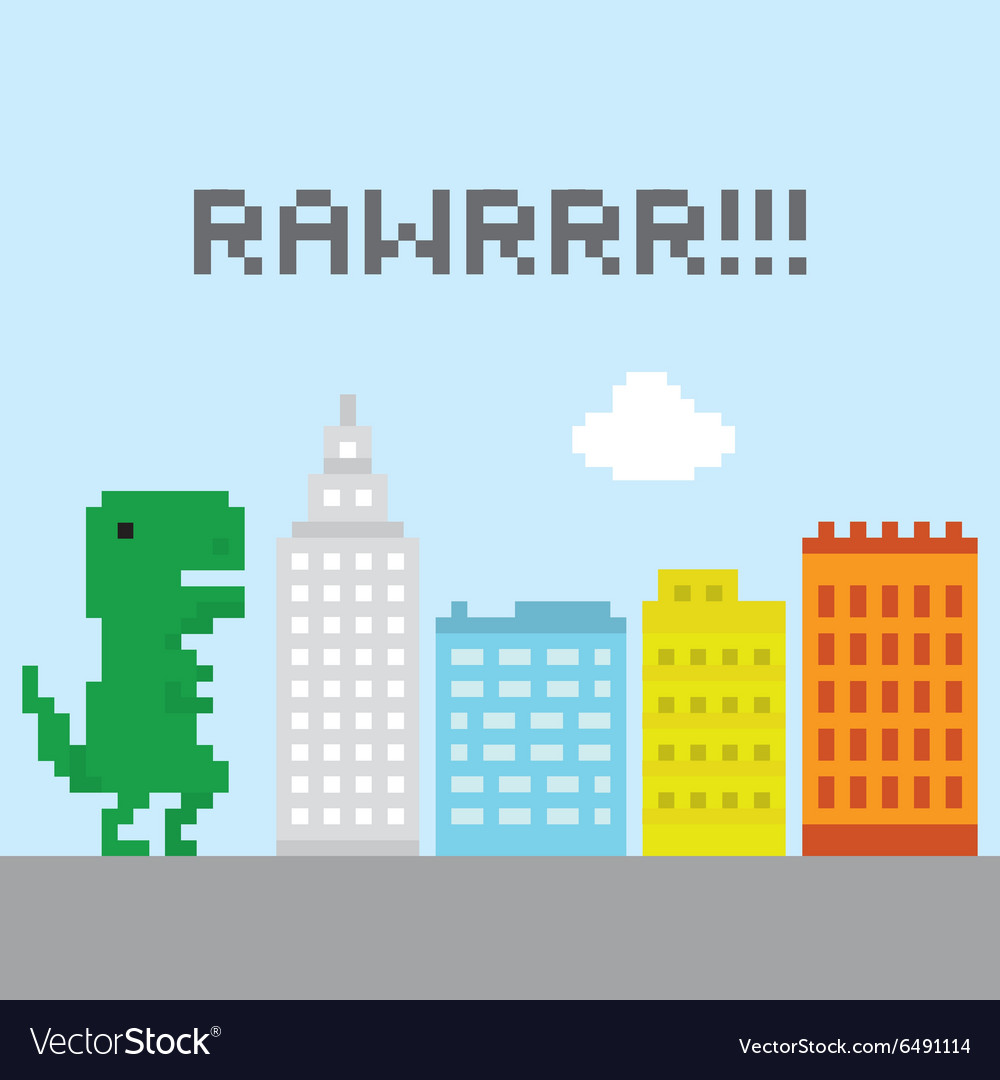 Trex in the city vector