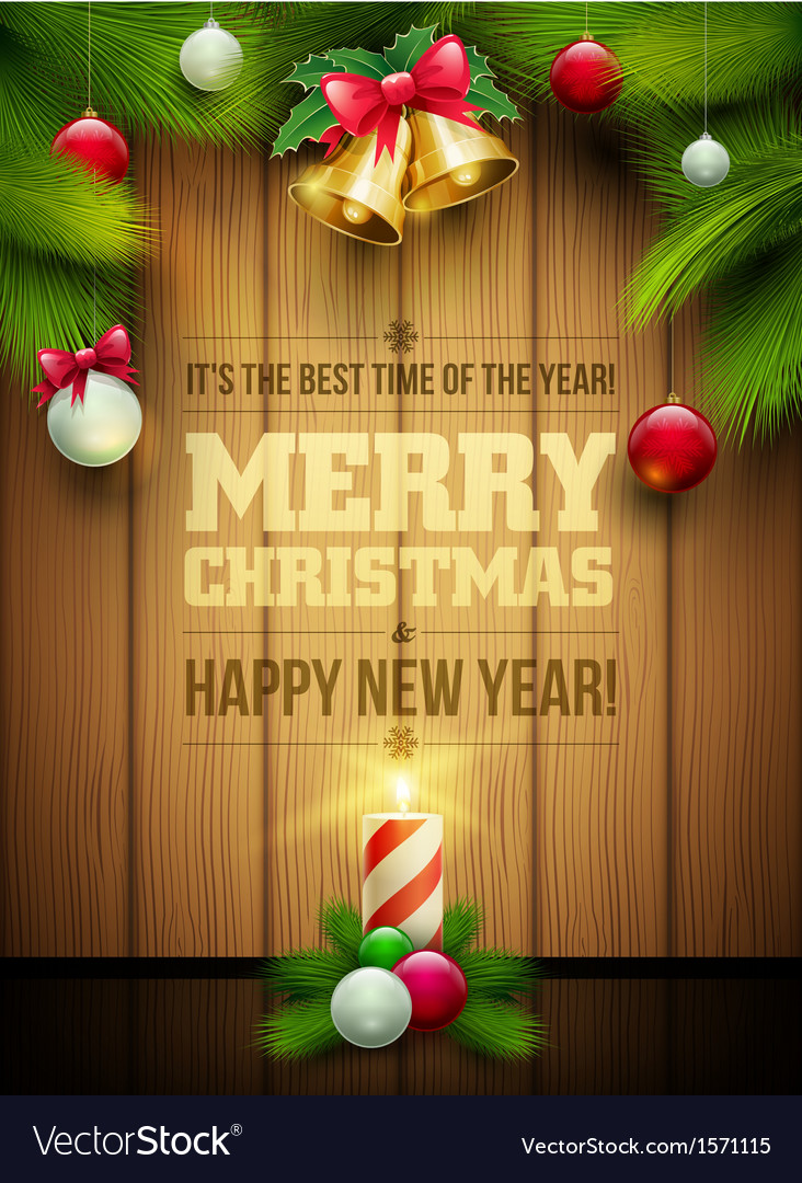 Christmas message board vector