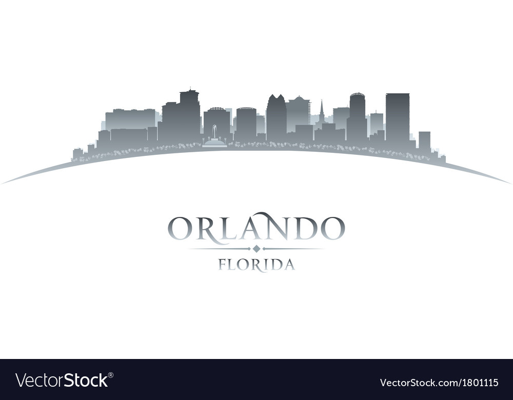 Orlando florida city skyline silhouette vector