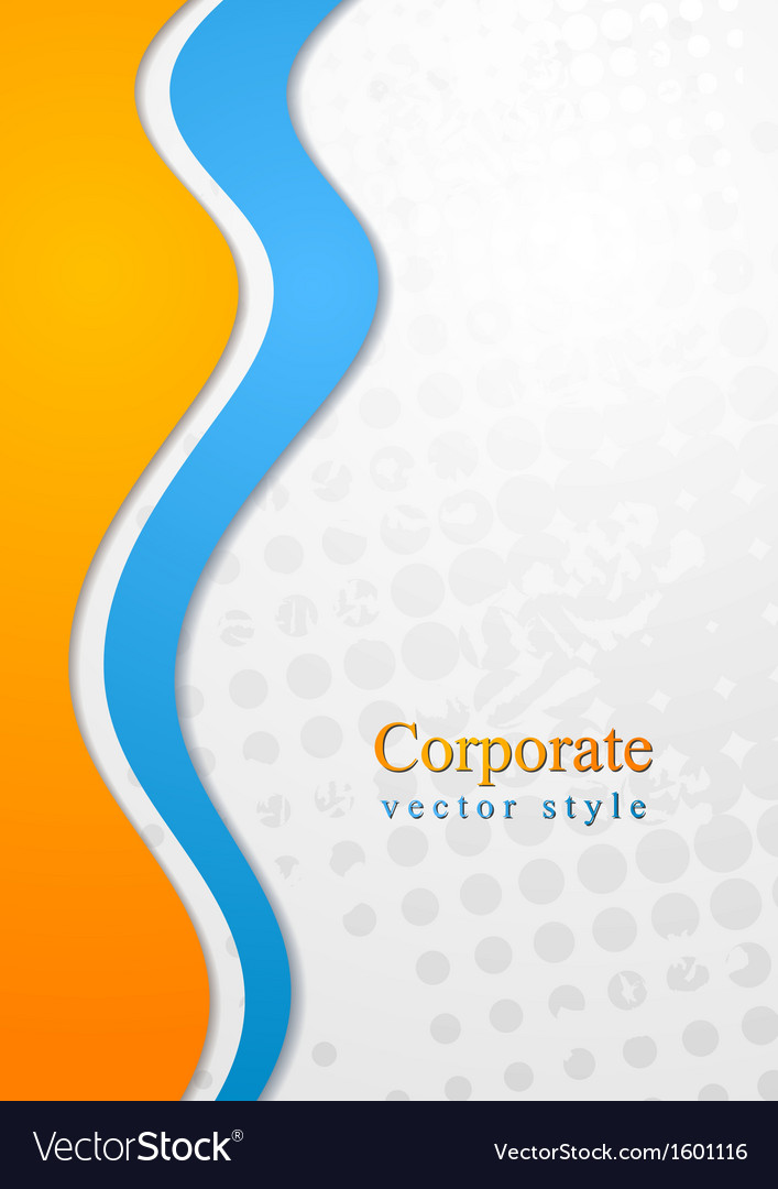 Colourful corporate waves design vector