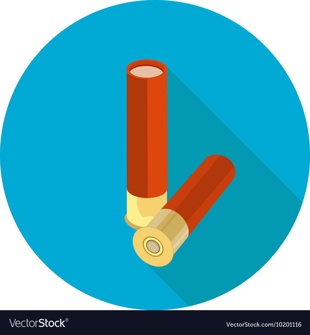 Flat icon ammo vector