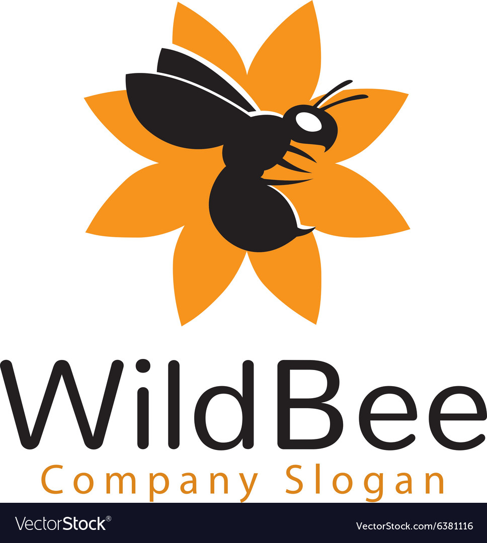 Wild bee logo vector