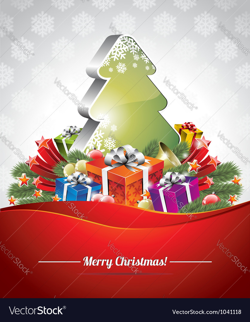 Holiday on a christmas theme vector