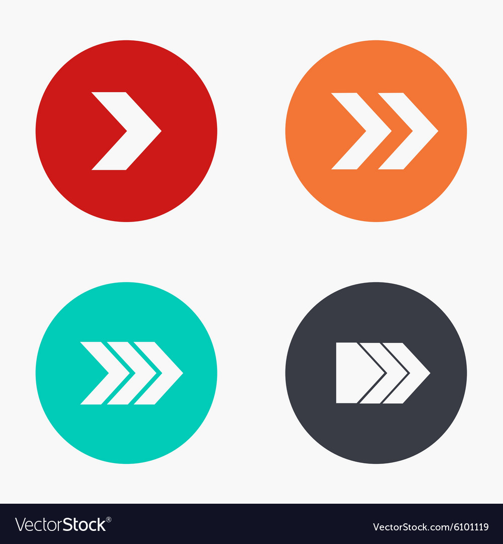 Modern arrow colorful icons set vector