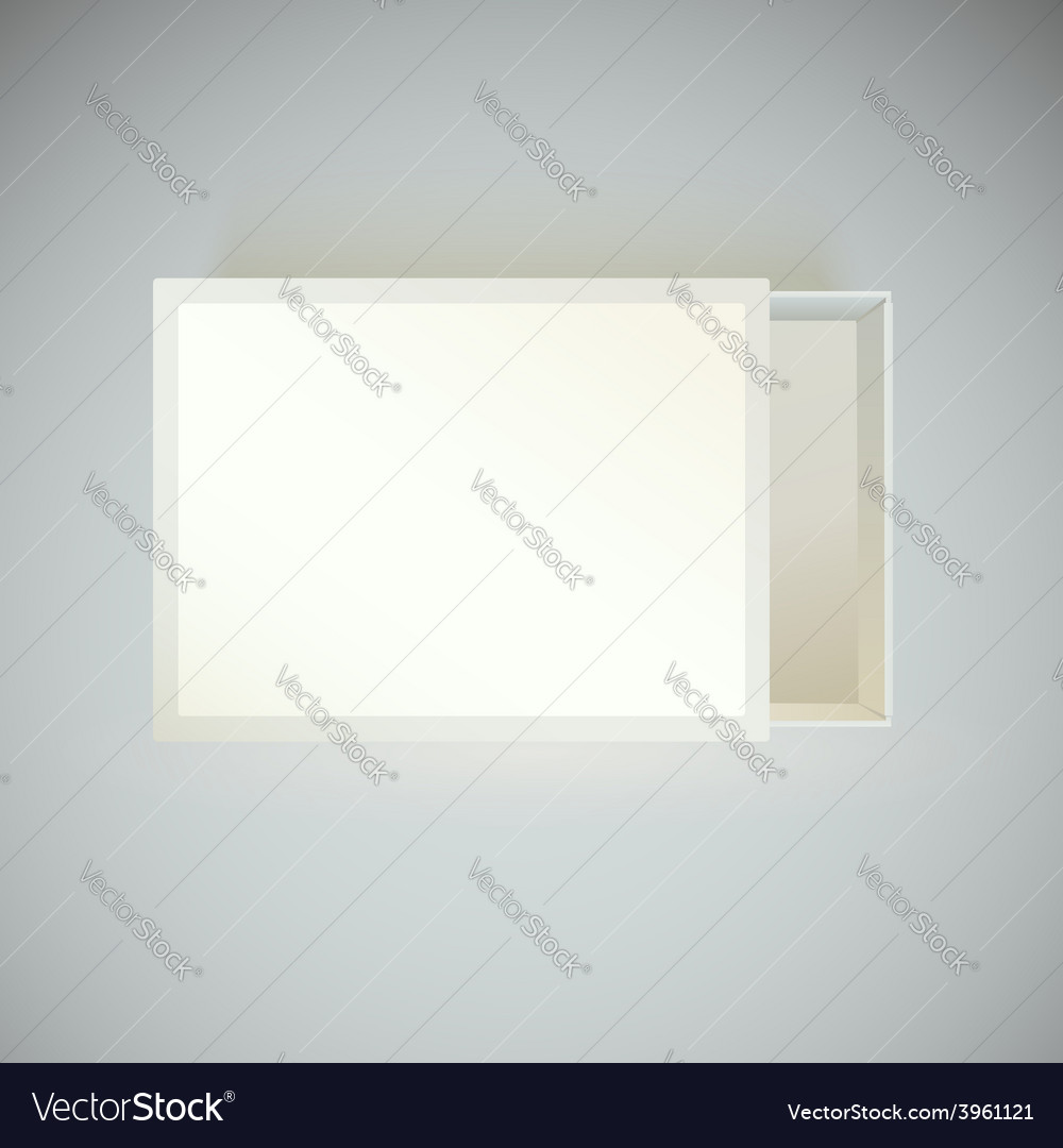 Top view matchbox with blank label vector