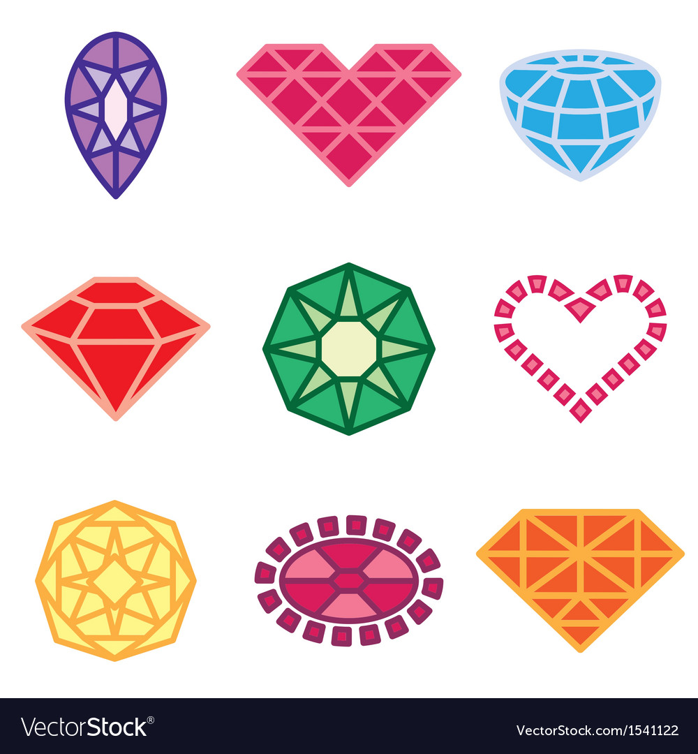 Logo icons jewels vector