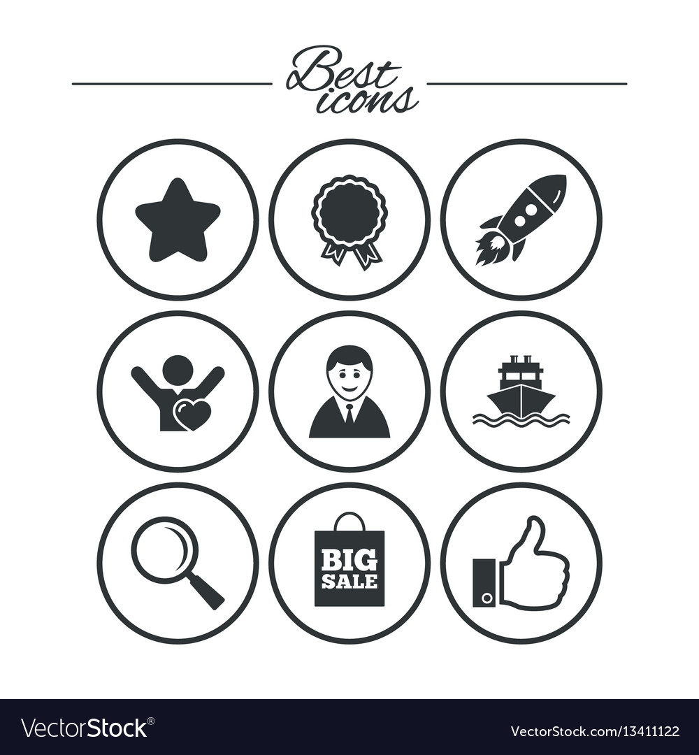 Online shopping ecommerce and business icons vector