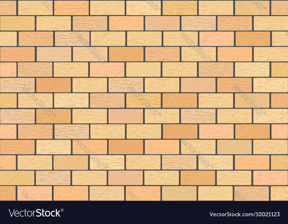 A fragment of a brick wall vector