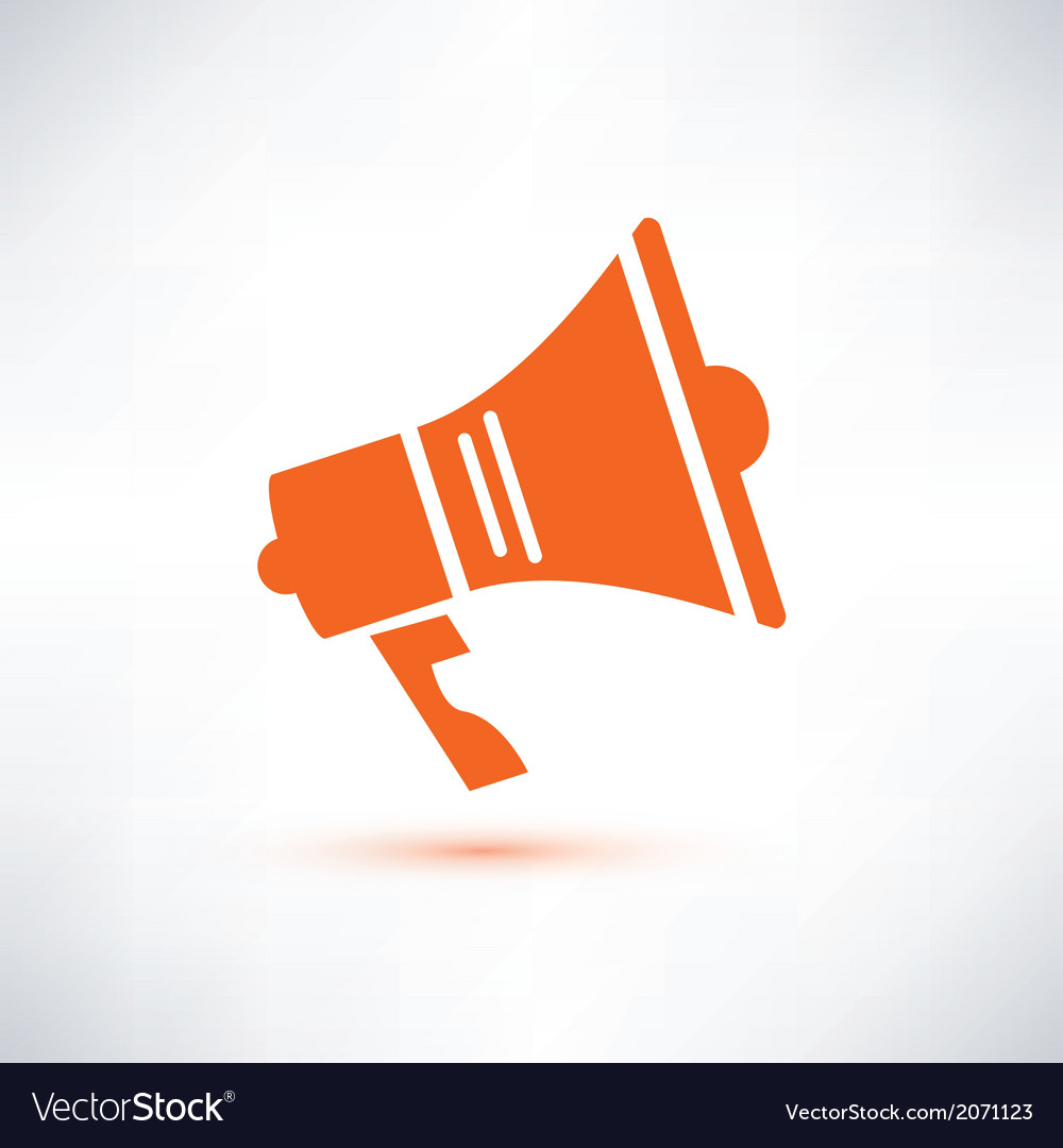 Megaphone loudspeaker isolated symbol vector