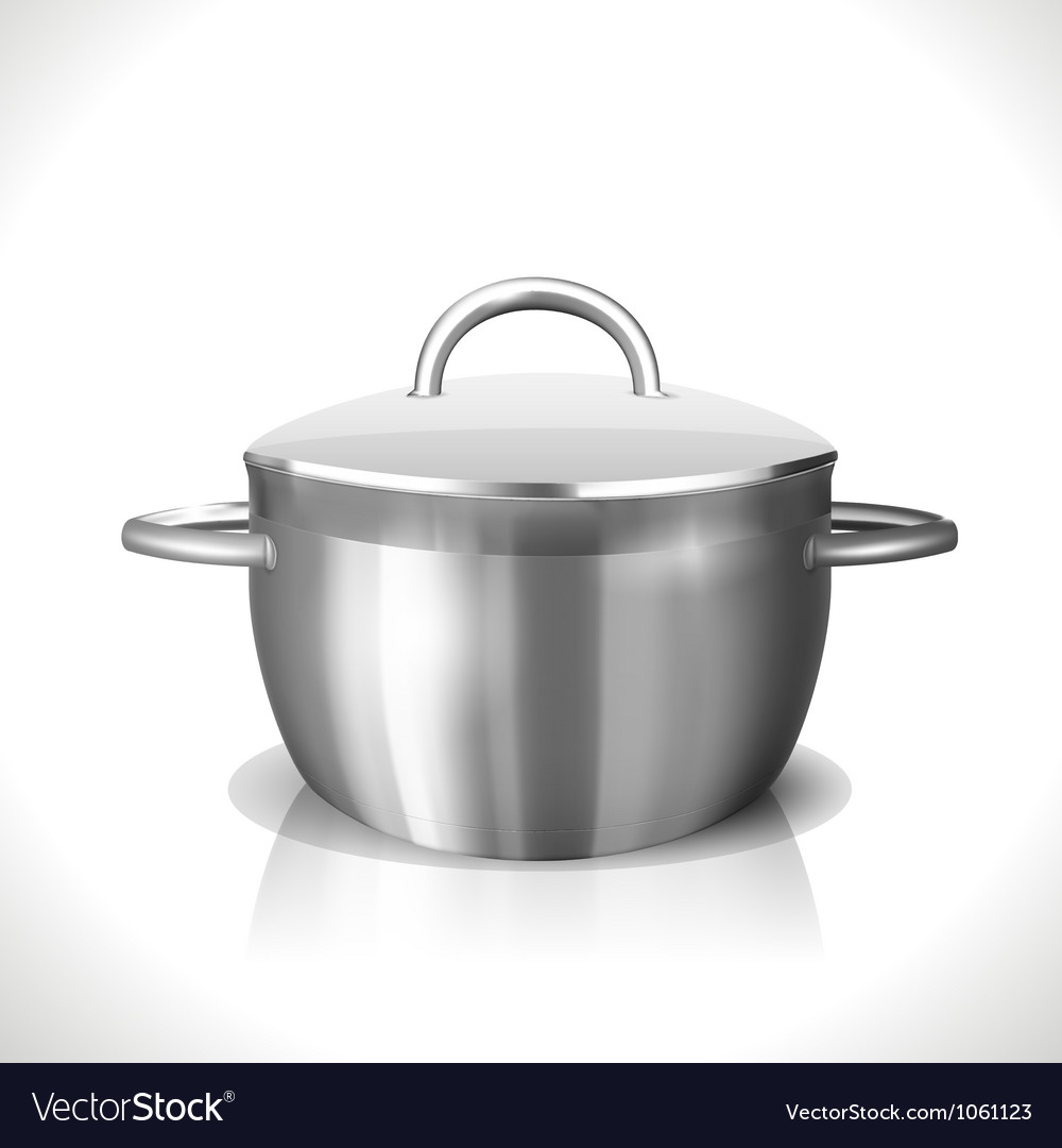 Stainless pan vector