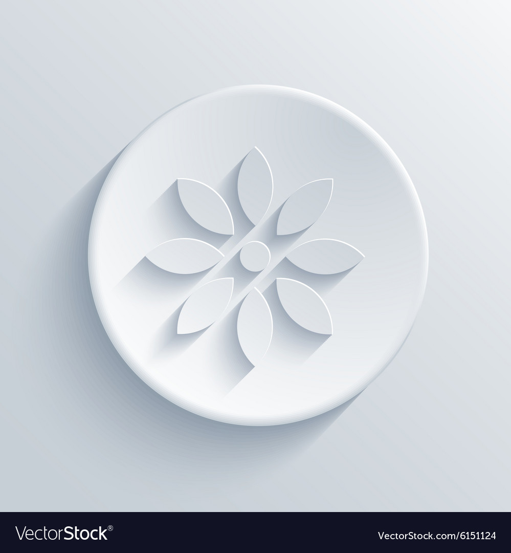 Modern light circle icon vector