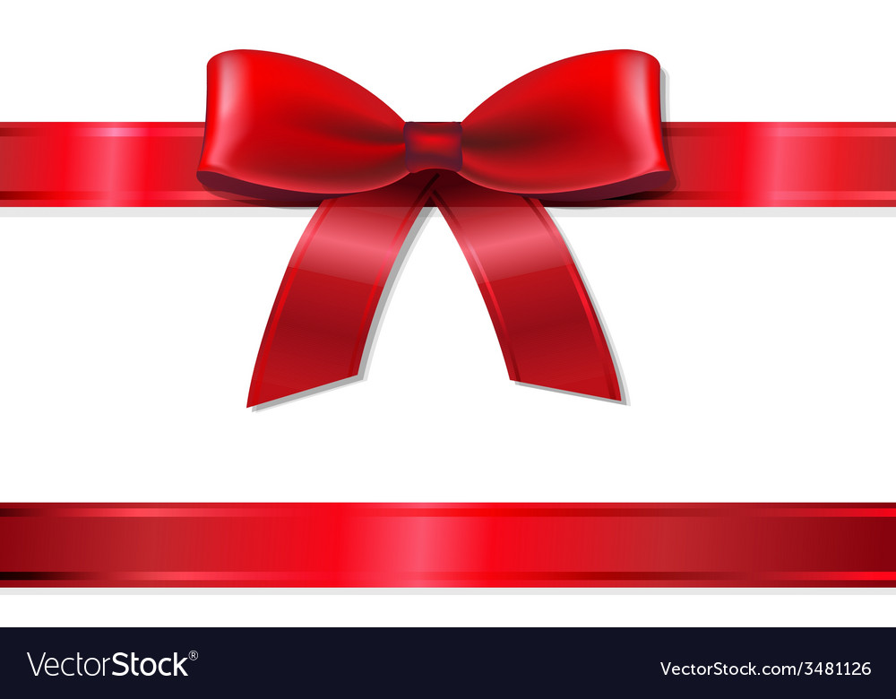 Red ribbon and bow vector